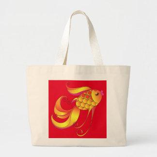 Fish. Wealth & prosperity symbol Large Tote Bag