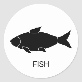 Fish Wedding Meal Choice Classic Round Sticker