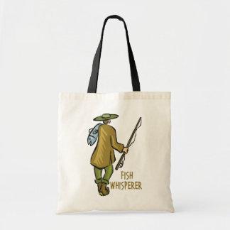 Fish Whisperer Fishing Budget Tote Bag
