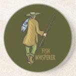 Fish Whisperer Fishing Drink Coaster