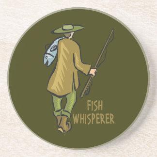 Fish Whisperer Fishing Sandstone Coaster