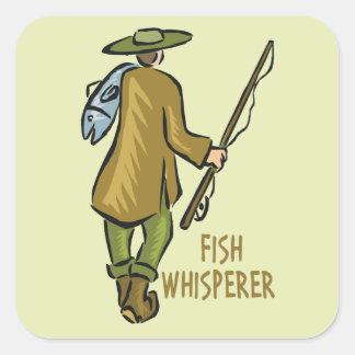 Fish Whisperer Fishing Square Sticker