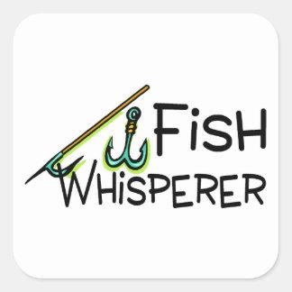 Fish Whisperer Square Sticker