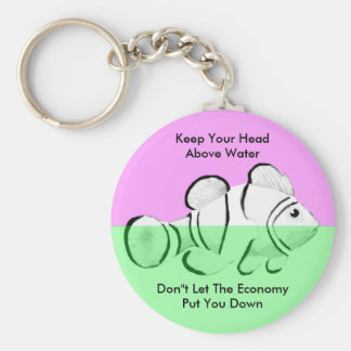 Fish White Head Above Water The MUSEUM Zazzle Gift Basic Round Button Keychain