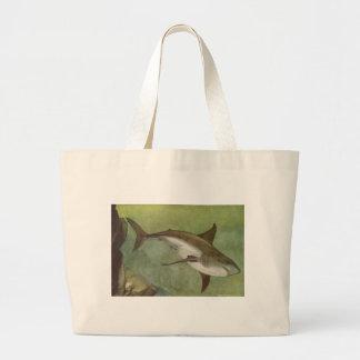 Fish - White Shark - Carcharodon carcharias Jumbo Tote Bag