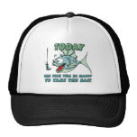 Fish will be Happy to Take Bait Funny Fishing Trucker Hat