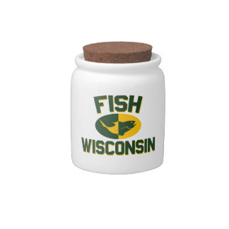 Fish Wisconsin Candy Jar