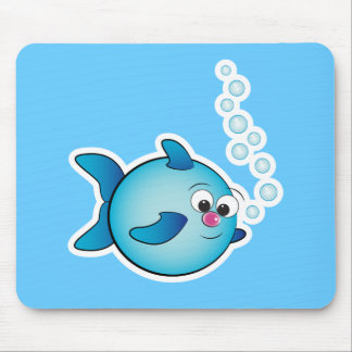 Fish with air bubble mouse pad