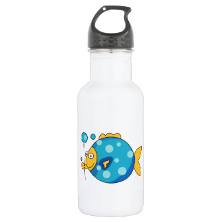 Fish With Balloon Stainless Steel Water Bottle