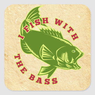 Fish With Bass Sticker