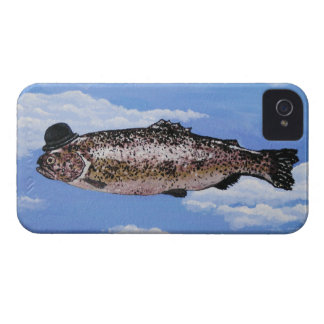 Fish with Bowler iPhone 4 Case