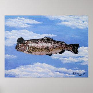 Fish with Bowler Plakatdruck