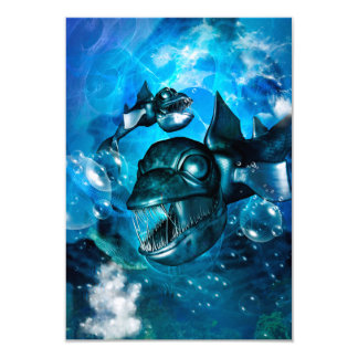 Fish with bubbles card