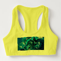 Fish with bubbles sports bra
