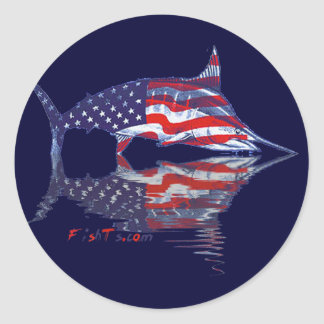 Fish with reflections collection classic round sticker