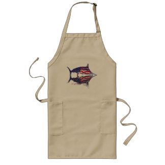 Fish with reflections collection long apron