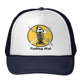 Fish with Rod-n-Reel / Fork - Watermeat Logo Trucker Hat