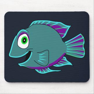 Fish with Teal Fins Mouse Pad