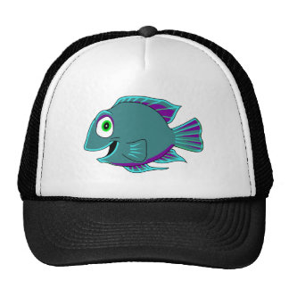 Fish with Teal Fins Trucker Hat