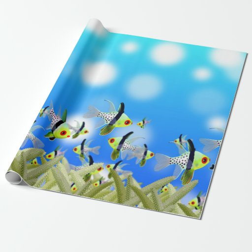 Fish wrapping paper zazzle for Fish wrapping paper