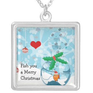Fish You A Merry Christmas Pet Fish Necklace