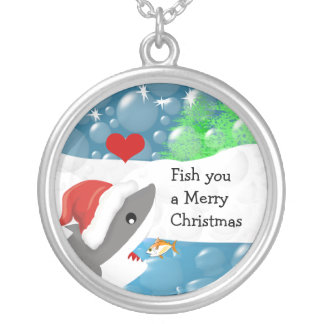 Fish You A Merry Christmas Shark Necklace