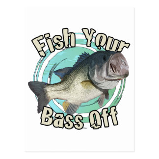 Fish your bass off postcard