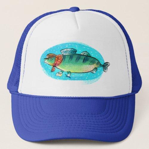 fish Zander fish Trucker Hat