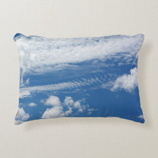 Fishbone Cloud Accent Pillow