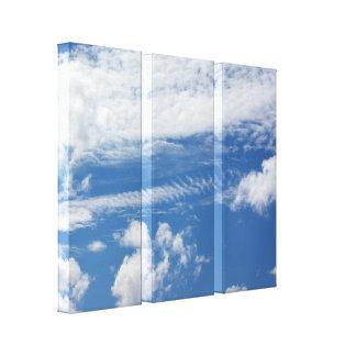 Fishbone Cloud Canvas Print