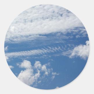 Fishbone Cloud Classic Round Sticker