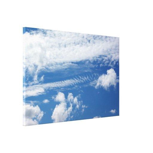 Fishbone Cloud Gallery Wrap Canvas