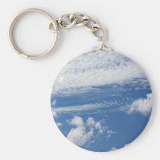 Fishbone Cloud Keychain
