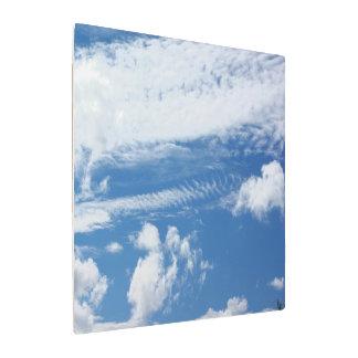 Fishbone Cloud Metal Photo Print