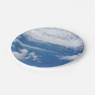 Fishbone Cloud Paper Plate