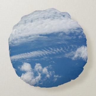 Fishbone Cloud Round Pillow