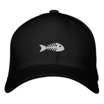 Fishbone Embroidered Baseball Hat