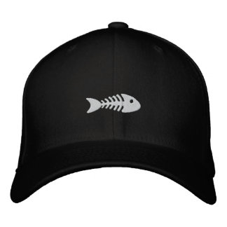 Fishbone Embroidered Baseball Hat