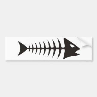 Fishbone - fish fishbone bumper sticker