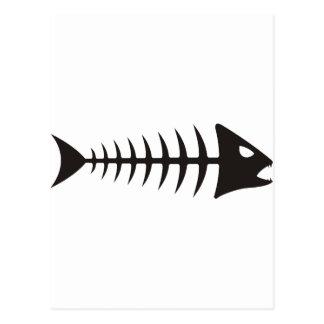 Fishbone - fish fishbone postcard