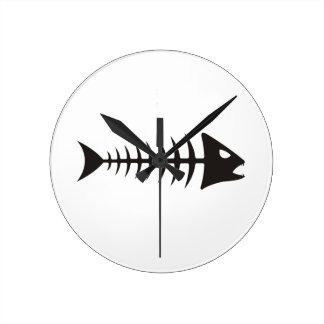 Fishbone - fish fishbone round clock