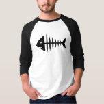 Fishbone skeleton t shirt