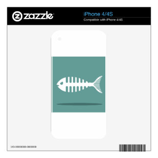 Fishbone Vector Skins For iPhone 4