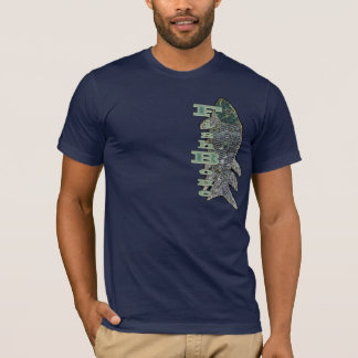 FishBone With Vertical Text T-Shirt