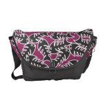 Fishbones Black Pink Messenger Bag