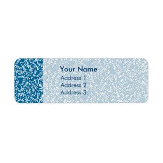 Fishbones Blue Address Labels