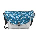 Fishbones Blue Messenger Bag