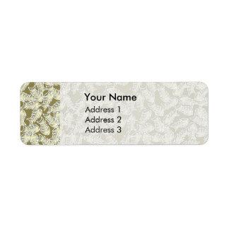 Fishbones Olive Address Labels