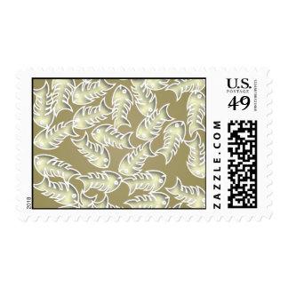 Fishbones Olive Postage Stamp