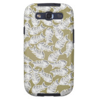 Fishbones Olive Samsung Galaxy S Case Samsung Galaxy S3 Cover